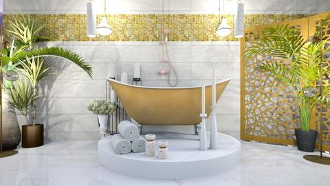 Marble and Gold Bath - Bathroom  - by Feeny