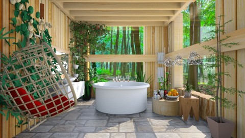 spa in nature  - Modern - Bathroom  - by Ida Dzanovic