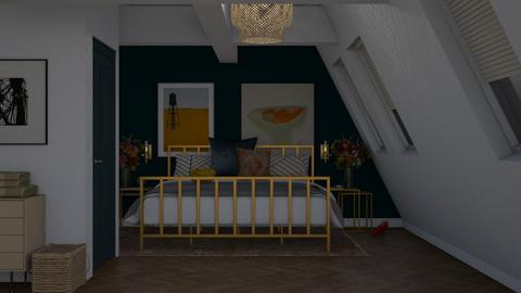 Small Attic Bedroom - Bedroom  - by HenkRetro1960
