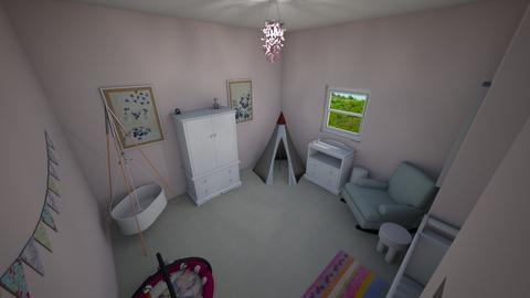 Nursery - Feminine - Kids room  - by LSDESIGNS