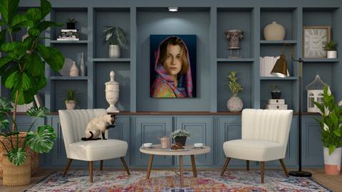 Girl with a scarfgth - Living room  - by Malithu Damasth