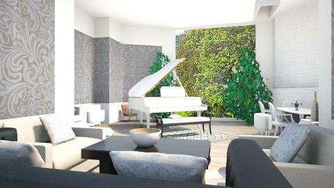 Living room - by Kasia Zacharska