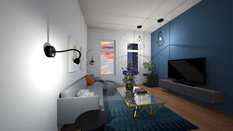 bluee - Living room - by SpookyjimKilljoy