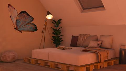 Attic room  - Bedroom  - by FANGIRLdesigner
