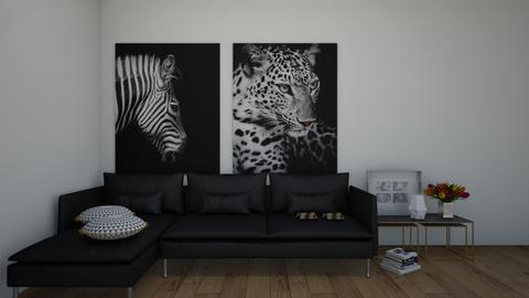 Black n White - Living room  - by KittyKat28
