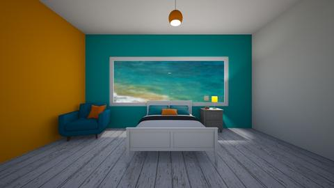 jade and orange playful - Bedroom - by Pippies home