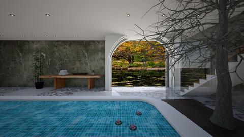 lily pond bathroom - Bathroom  - by dia17a