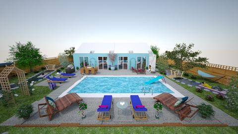 Pool and Pool house - Classic - Garden  - by Buffy7