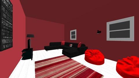 red room  - Living room  - by samrr1224