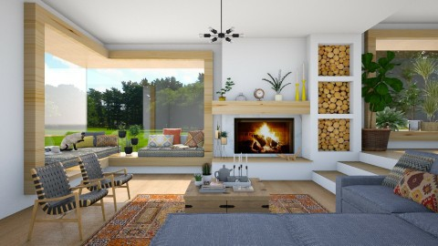 Window seat - Modern - Living room  - by maja97