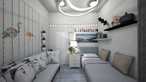 white theme bedroom - Bedroom  - by Susan R