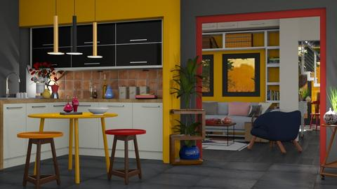 Colored - Modern - Kitchen  - by Gurns