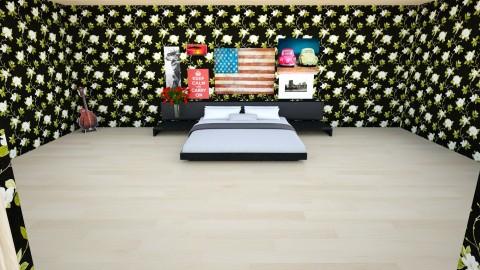 Rylies Bedchamber - Retro - Bedroom  - by TheGirlOnTheCorner