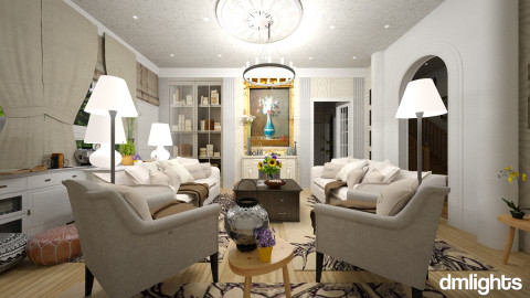 colonial - Classic - Living room  - by DMLights-user-982918