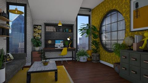 Yellow Office - Eclectic - Office  - by Nicky West