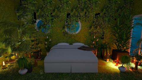 plant bed room - Bedroom  - by malithu damsath