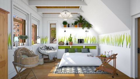 Day One - Eclectic - Bedroom  - by Alexandra amyra