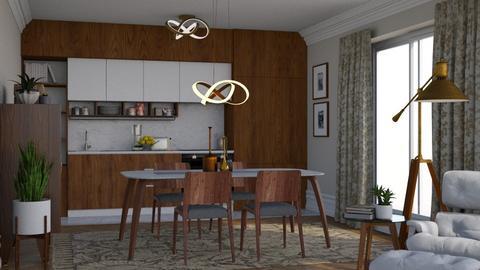 Mid kitchen - Vintage - Kitchen  - by AdaBart