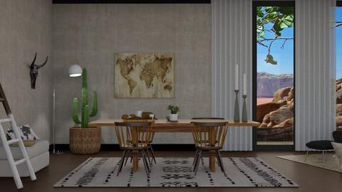 okeeffe dining room - Dining room - by irisrmks