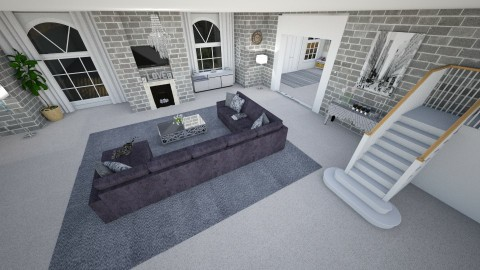 Living room Greyscale 2 - Living room - by Shelley_1