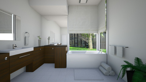 Modern Bath - by Natalie T