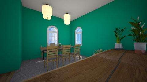 Teal Dining Room - Dining room  - by Snowball Styler