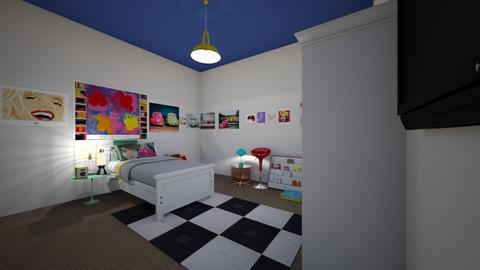 gracees room - Retro - Bedroom  - by blackswordsman12582