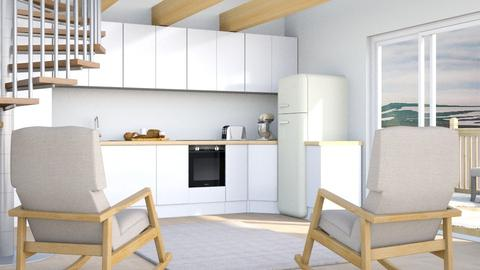 Cream - Modern - Kitchen  - by millerfam