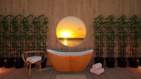 Simple sunset bath - Bathroom - by CatsFurLife