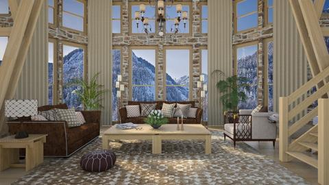 Design 503 Mountain Retreat - Living room  - by Daisy320
