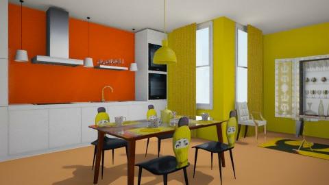 yellow kitchen - Classic - Kitchen  - by Karine Hakobayan