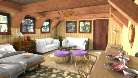 nipa hut - Country - Living room - by Veny Mully