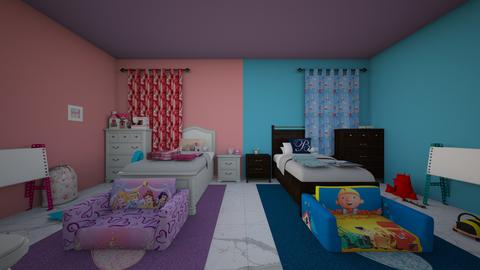 bro and sis twin toddlers - Modern - Kids room  - by jade1111