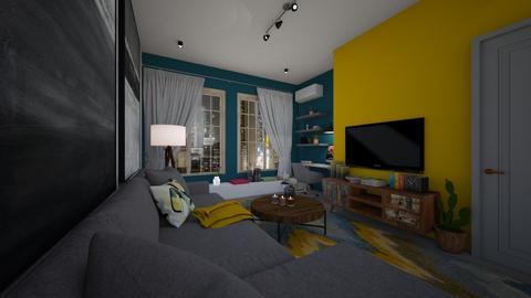 student apartment - Living room - by Grigoria Popli