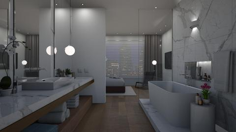 modern bath night - Minimal - Bathroom  - by Valkhan