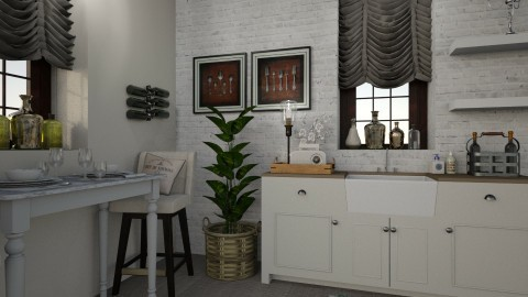 Shabby Chic - Eclectic - Kitchen  - by Katie Whitley