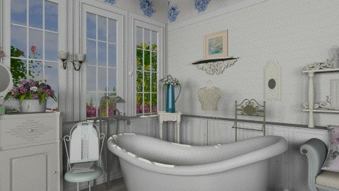 Roses - Vintage - Bathroom  - by milyca8