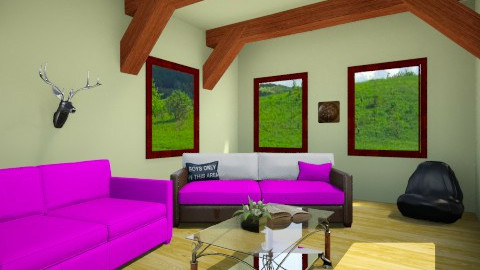 Barn makeover - Retro - Living room  - by AnaZderic