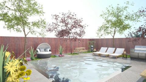 Pool and Garden - Modern - Garden - by ayudewi