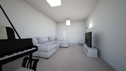 White Living Room - Living room  - by ChinchillaLover10