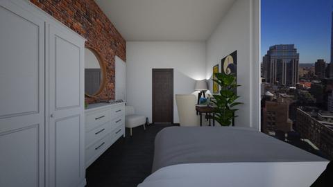 nyc bedroom - Bedroom - by ellejay_1207