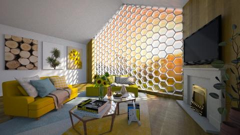 Honeycomb - Rustic - Living room  - by Bee0196