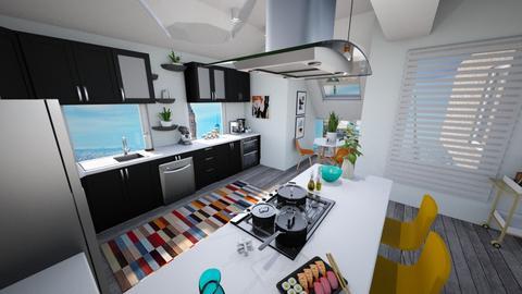 Calm Studio Kitchen View2 - Modern - Kitchen - by musicdesign22