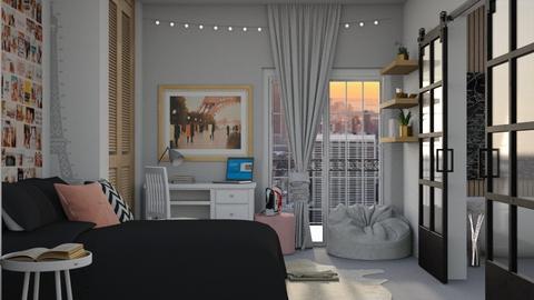 Paris Dorm - Bedroom  - by jo0207