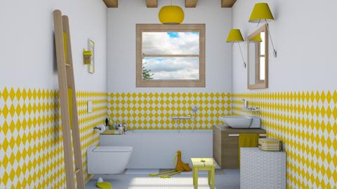 Yellow kids bath - Bathroom  - by Charipis home
