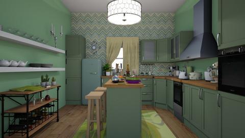Green Kitchen - Kitchen - by Irishrose58