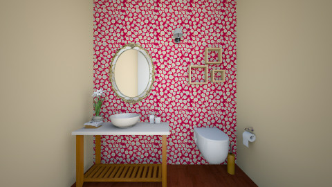 flowered - Glamour - Bathroom  - by blingirl