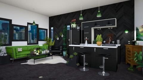 UJ Kitchen - Modern - Kitchen  - by Isaacarchitect