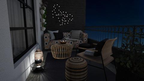 Night balcony - by Thrud45