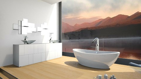 Minimalist Bath - Minimal - Bathroom  - by MilaMao